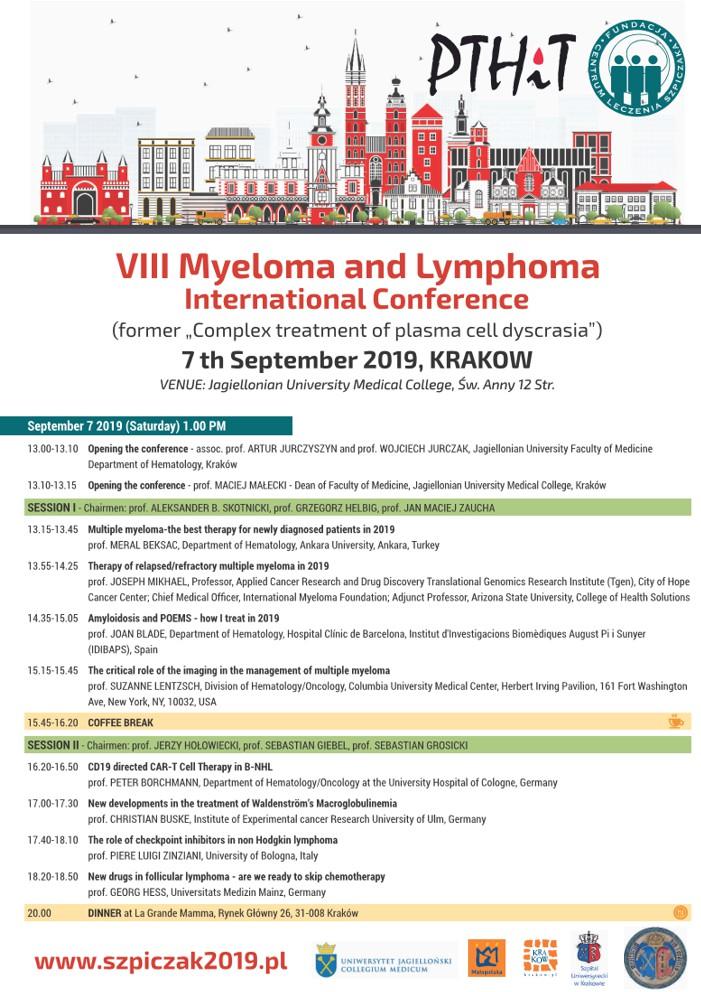 VIII Myeloma and Lymphoma International Conference in Kraków 2019
