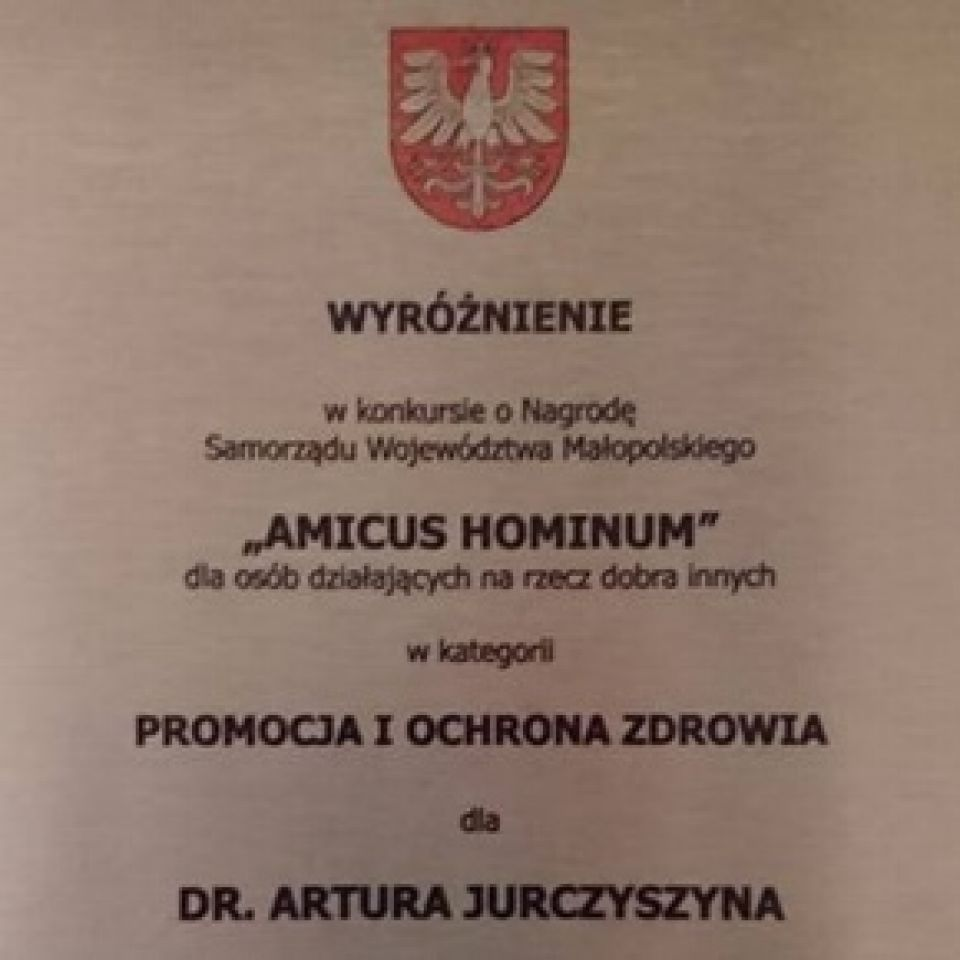 Wyróżnienie AMICUS HOMINUM 2016